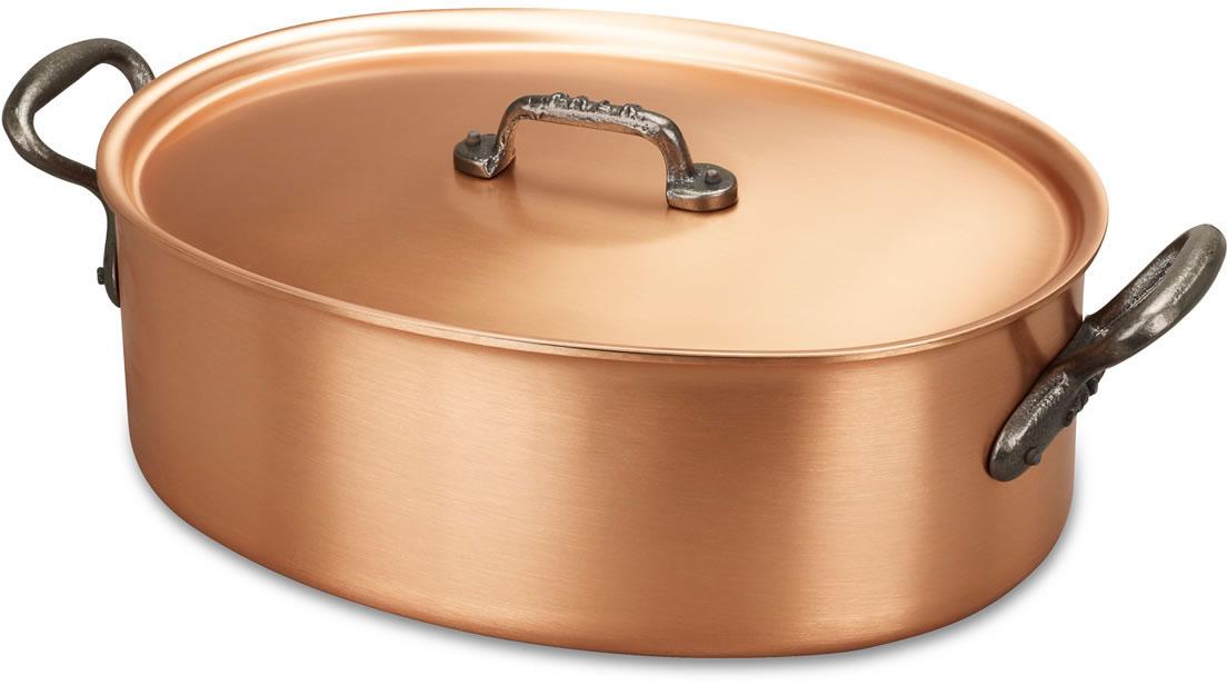 oval casserole 30cm x 20cm casserole and pot au feu falk classical range falk copper cookware