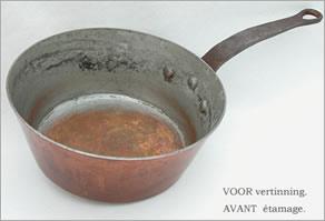 Étamage cuivre culinaire
